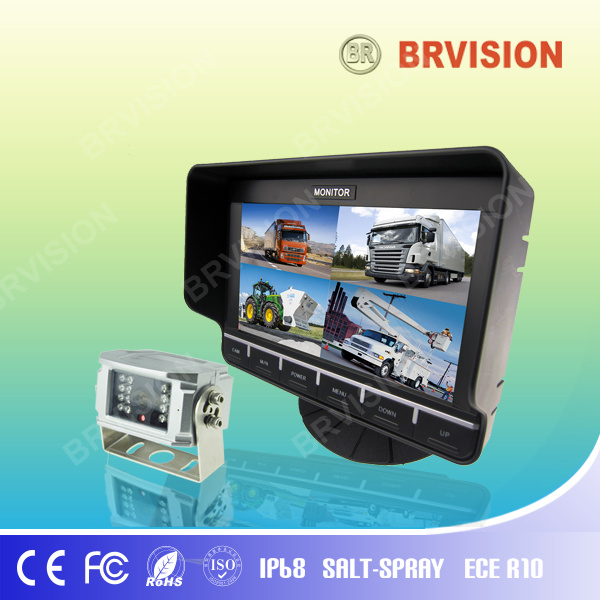 "7"" DVR TFT-LCD Color Car Monitor with Quad Split Screen"