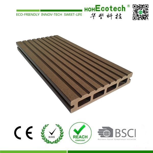 Unti-Slip Wood-Plastic Composite Hollow Decking Floor