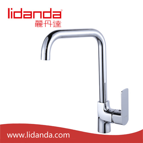 Contemporary Single Handle Kitchen Faucet with Chrome Finish