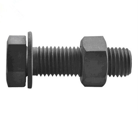 Hot Dipped Galvanized / Plain Heavy Structural Hex Head Bolts ASTM A325