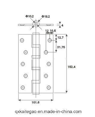 (4064--4BB) Stainless Steel Door Hinge for Wooden Door