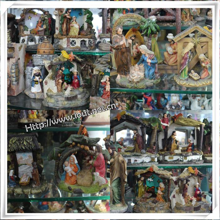 Factory Custom High Quality Poly Resin Religious Nativity Family Statues, Resin Nativity Set Catholic Religious Statues (IO-ca_samples)