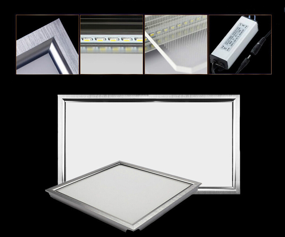 CE RoHS LGP Round/ Square LED Panel Light SMD 2835 9W 12W 15W 18W 21W 25W 110-240V LED Indoor Ceiling Recessed Downlight LED Down Lighting