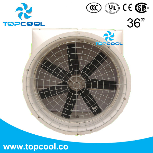 High Efficient FRP Exhaust Fan 36 Inch for Livestock and Industry Application with Amca Test