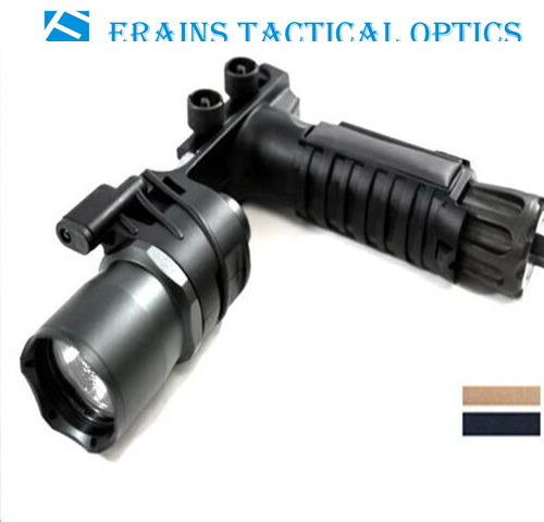 Erains Tac Optics Tactical 550 Lumens Screw Detach Dura Aluminum Handgrip & LED Light LED Flashlight Torch with Reading Lamp Attached