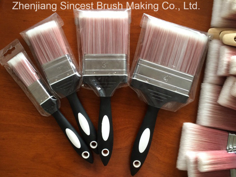 High Quality Tapered Filament Paint Brush with Rubber Handle