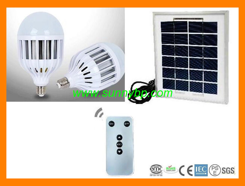 Rechargeable Solar LED Bulb with CE Saso