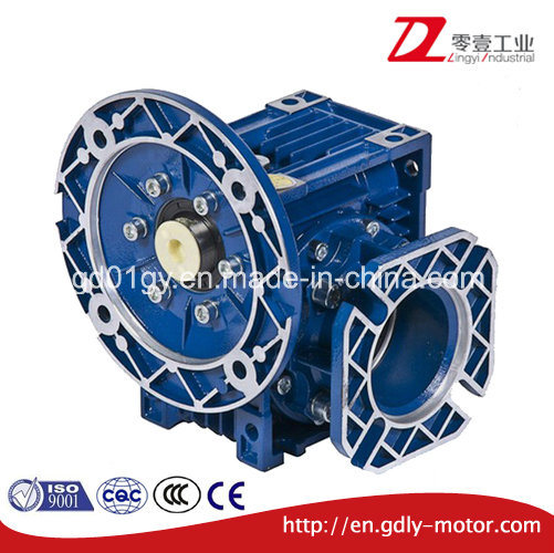 Dia Cast Aluminum Worm Gearbox with Small Flange
