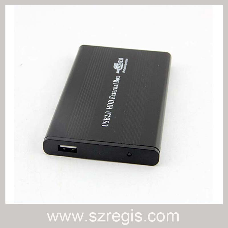 Aluminum USB2.0 HDD Enclosure Support All 2.5-Inch Laptop Hard Drive