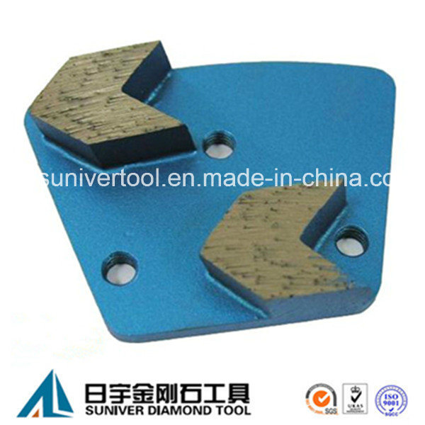 Arrow Segment Trapezoid Grinding Plate for Concrete