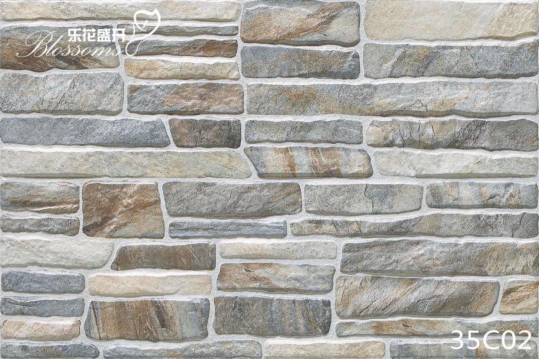 Porcelain Decorative Ceramic Stone Exterior Wall Tile (333X500mm)