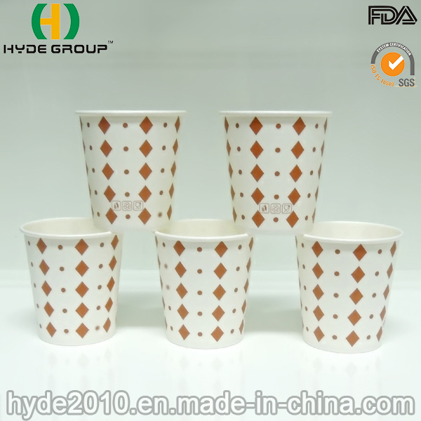 6oz Disposable Single Wall Paper Cup with Flexo-Printing