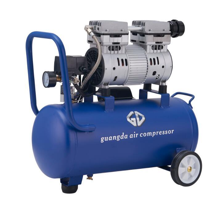 750W 1HP 30L Silent and Oil Free Air Compressor (GDG30)