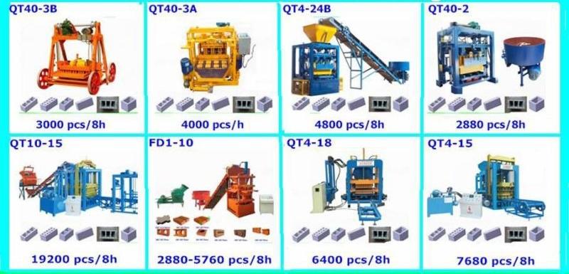Great Quality Cement Brick Machine Qt40-2 Concrete Paver Machine