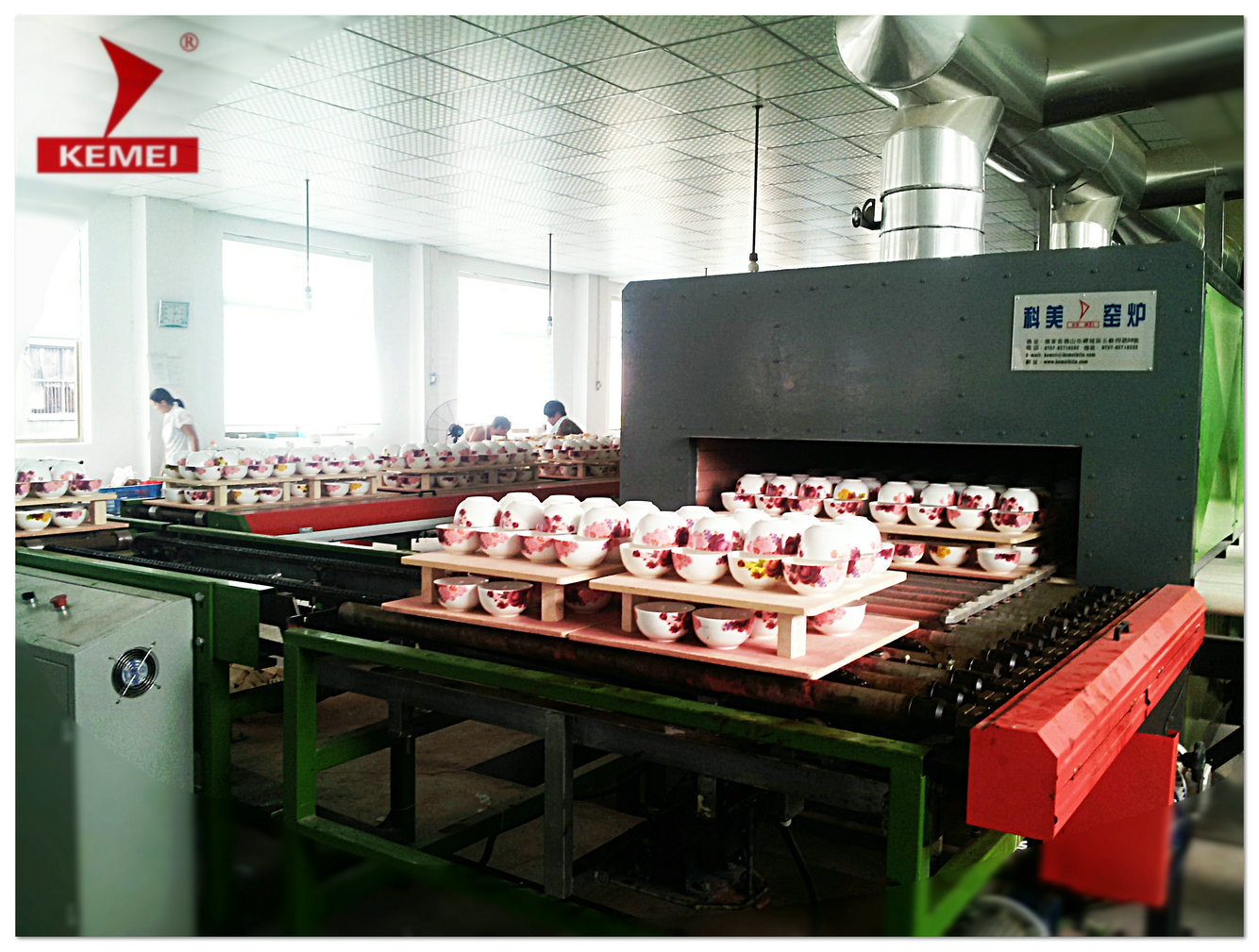 Roller Kiln for Porcelain China Teaset