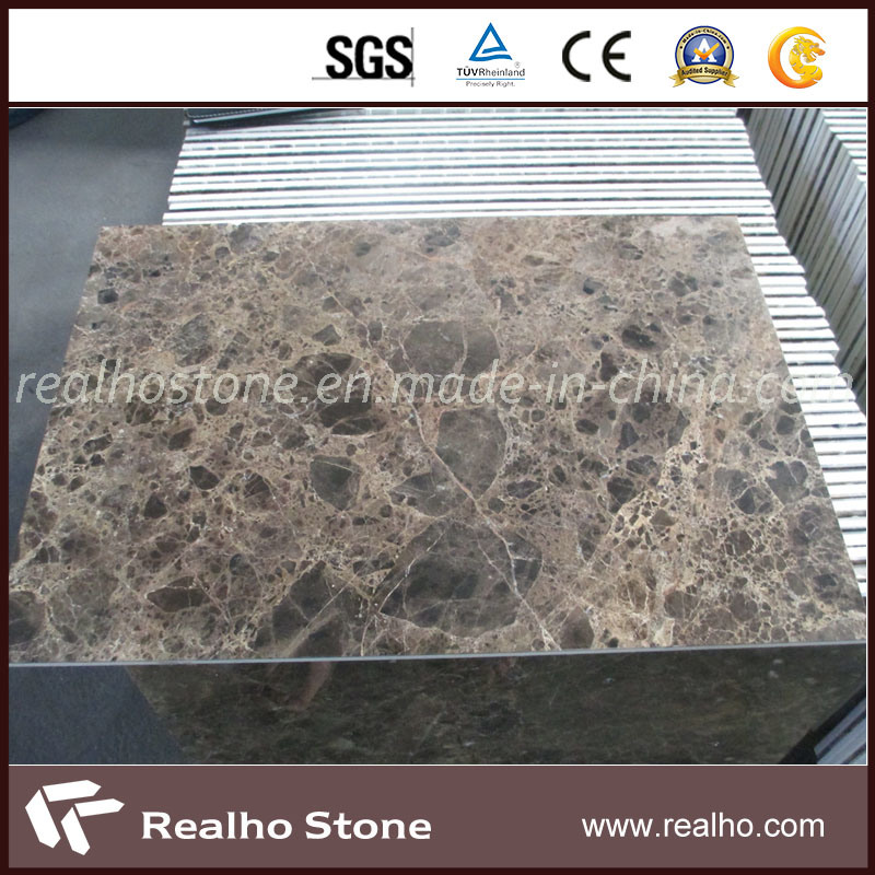 Brown Dark Emperador Marble Composite Stone Panel for Wall Cladding