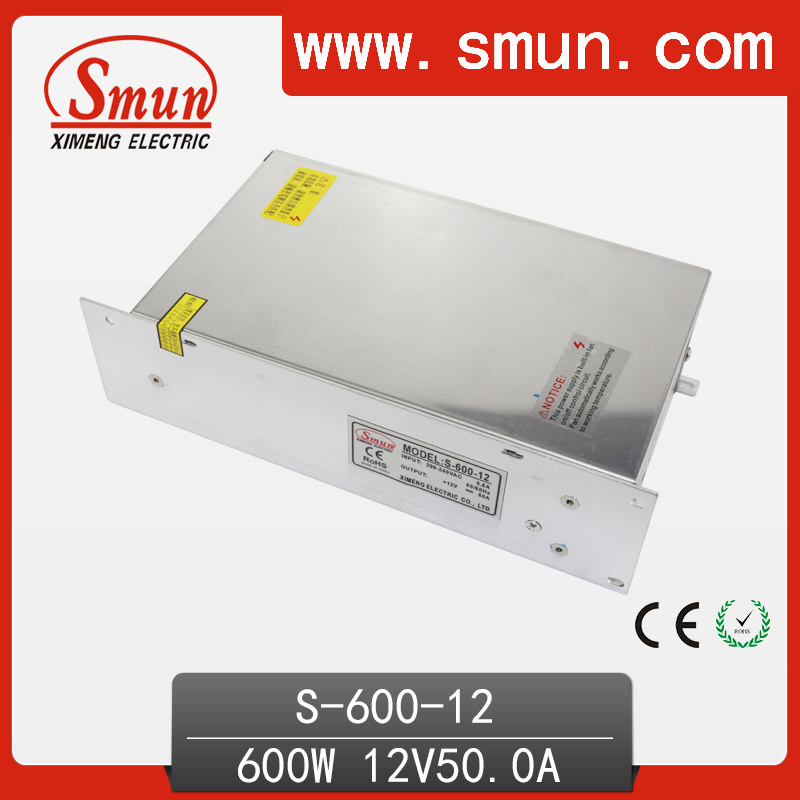 Smun S-600-12 600W 12VDC 50A Single Output Switching Power Supply