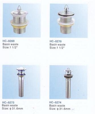 Bathroom Accessory Brass Waste for Wash Basin Drain (slotted) Hc-0269