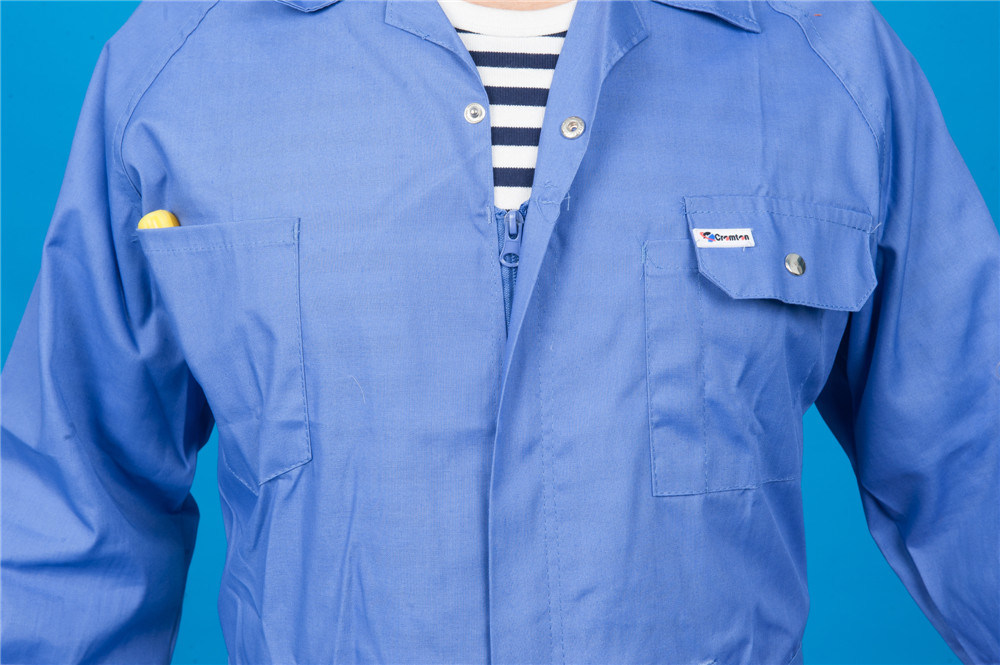 65% Polyester 35%Cotton Long Sleeve Safety Coverall Workwear with Reflective (BLY1023)