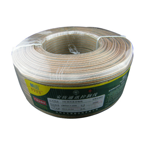 Transparent Acoustics Wire /Speaker Cable Metallic Yarn
