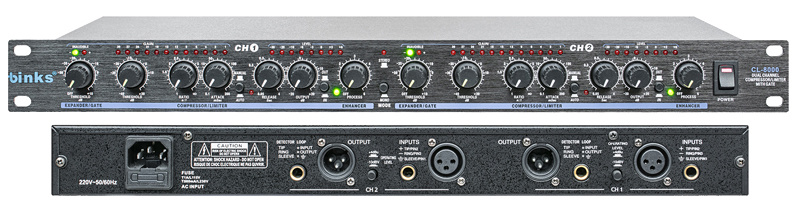 Dual Channel Compressor Limiter with Gate (CL-8000)