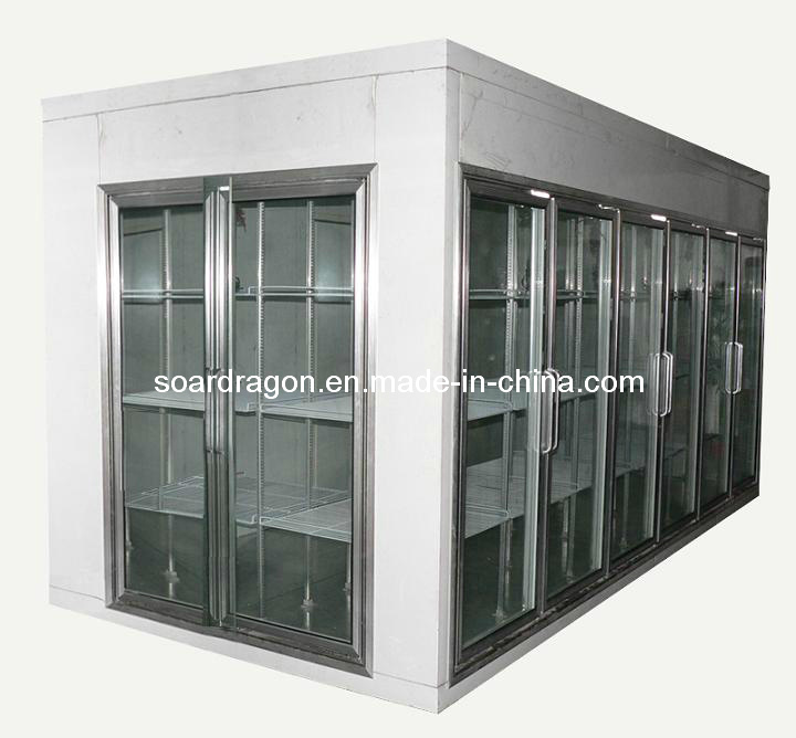 Supermarket Display Cold Room with Glass Door