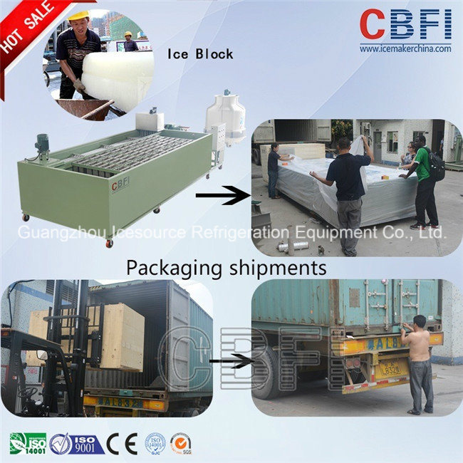 New Design Adopting Coil Pipe Evaporator Block Ice Machine