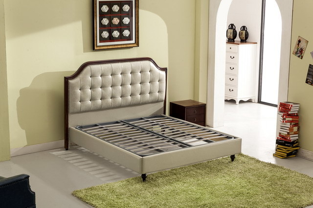 Foshan City Furniture Manufacturers Fashion Bedroom Modern Leather Soft Bed