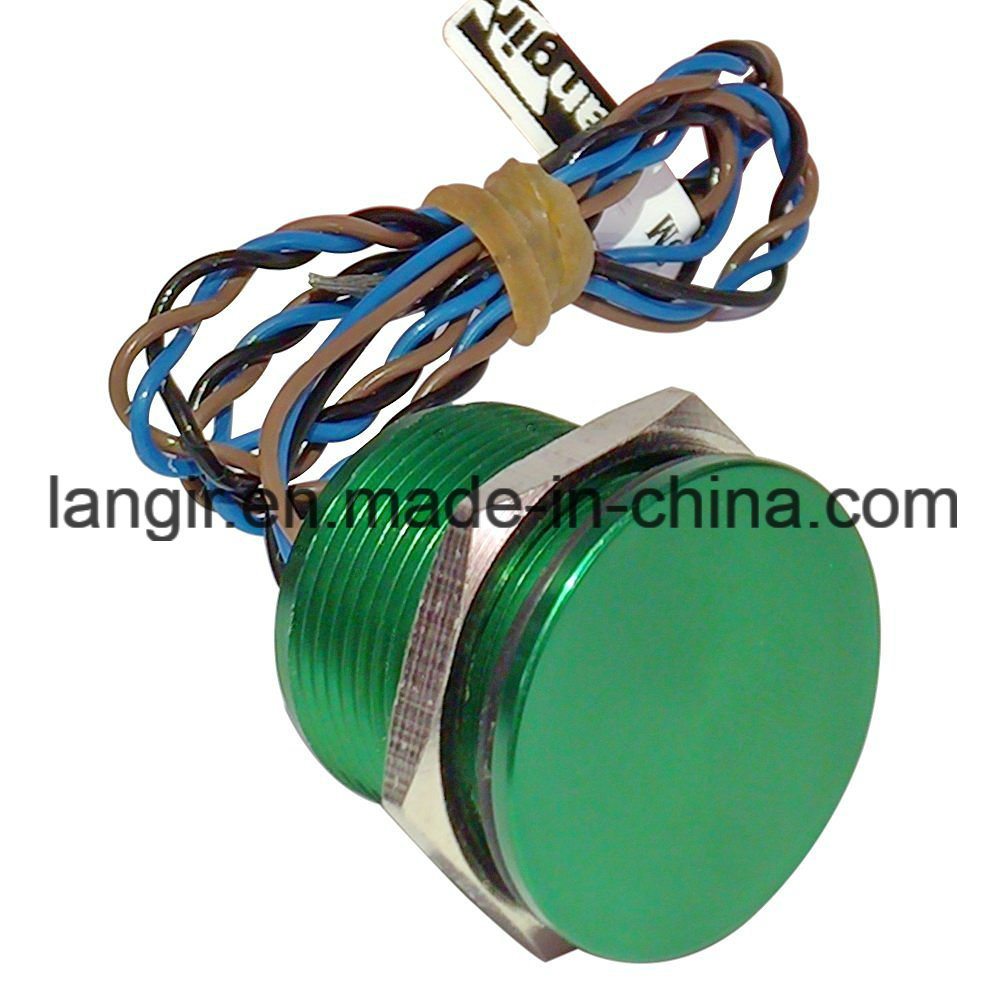 19mm Green Latching Non-Illumination Piezo Switch