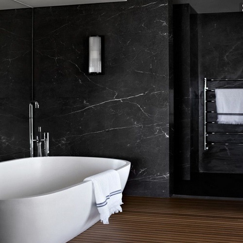 China natural stone nero marquina black marble flooring for Carrelage 4000