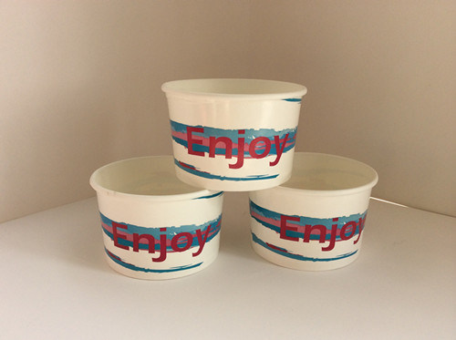 12oz Paper Ice Cream Bowl with Lid Custom Printed Double Wall Paper Cups with Great Price