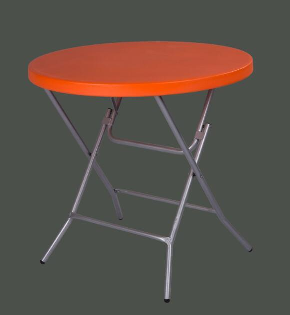 Plastic Folding Stackable Round Bar Coffee Table