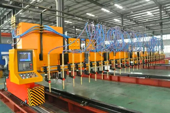 4000X12000mm CNC Flame Cutting Machine with 4 Oxy-Fuel Torch
