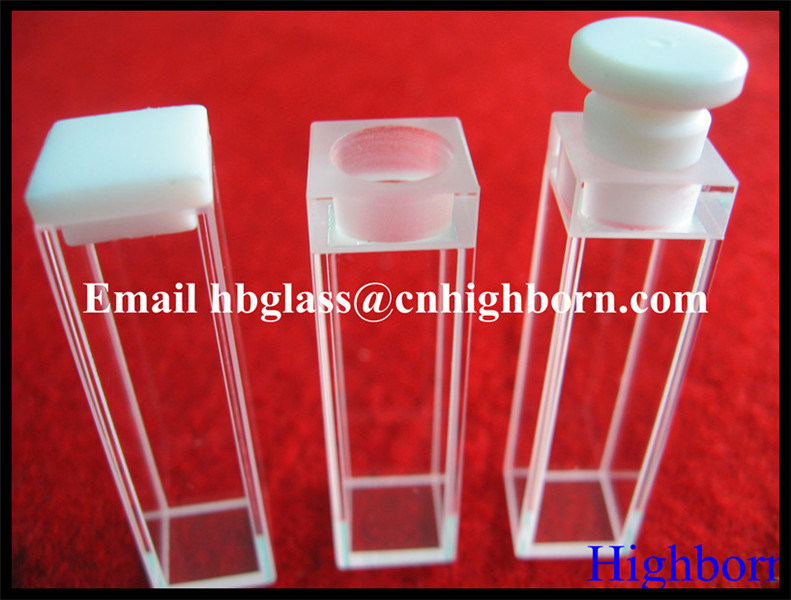 Manufacurer Customize Silica Quartz Glass Cuvette