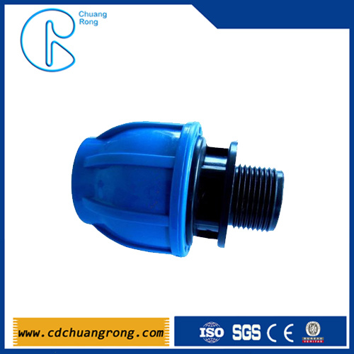 110mm HDPE Pipe PP Compression Male Adaptor Fittings