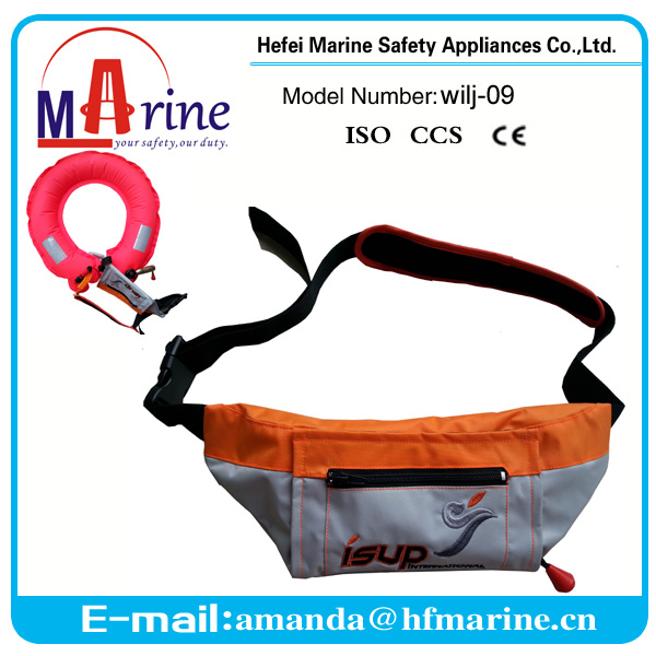 2016 Hot Sale Orange Color Waist Belt Pack Life Jacket