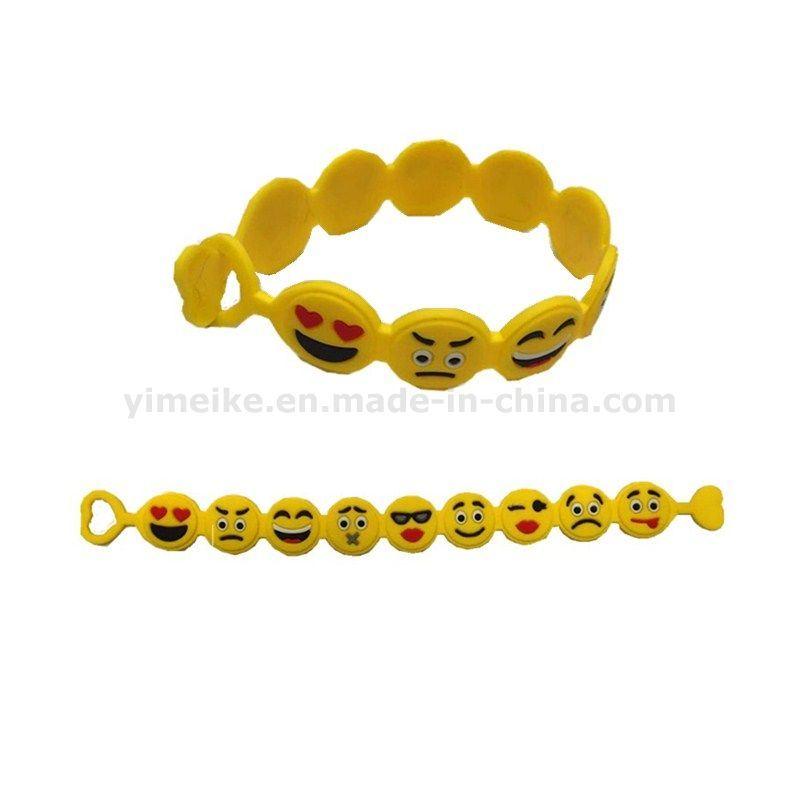 2016 New Design Creative Bracelet Silicone Emoji Face Bracelet