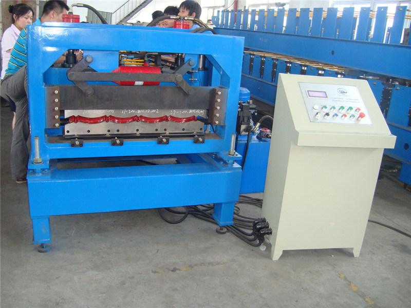 PPGI PPGL Glazed Steel Roof Tile Roll Forming Machine Hangzhou