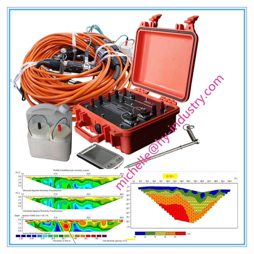 Electric Resistivity Tomography, Resistivity Imaging, Geological Mapping Instrument for Underground Water Detection, Water Finder, Groundwater Detector