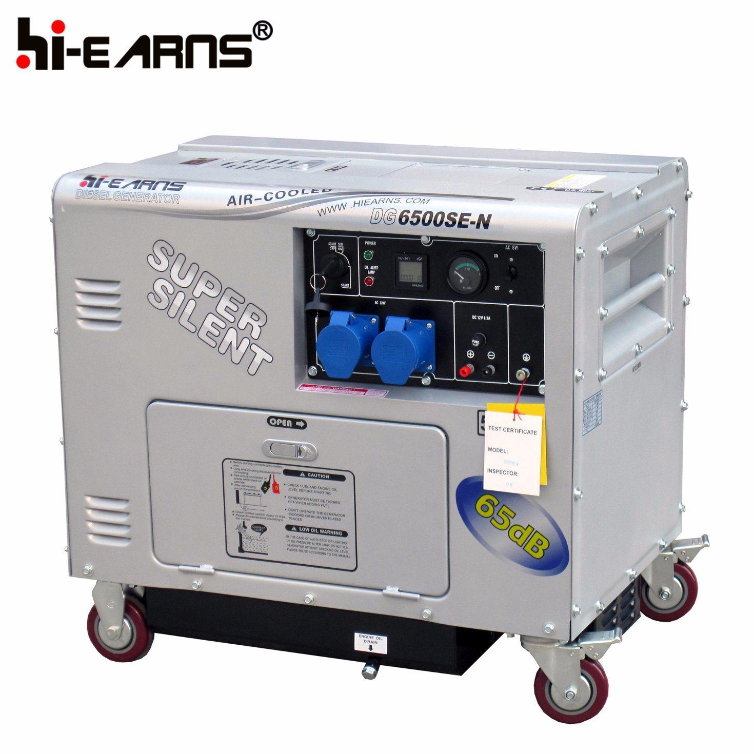 China 5kw Super Silent Diesel Generator for Home Use DG6500SE N