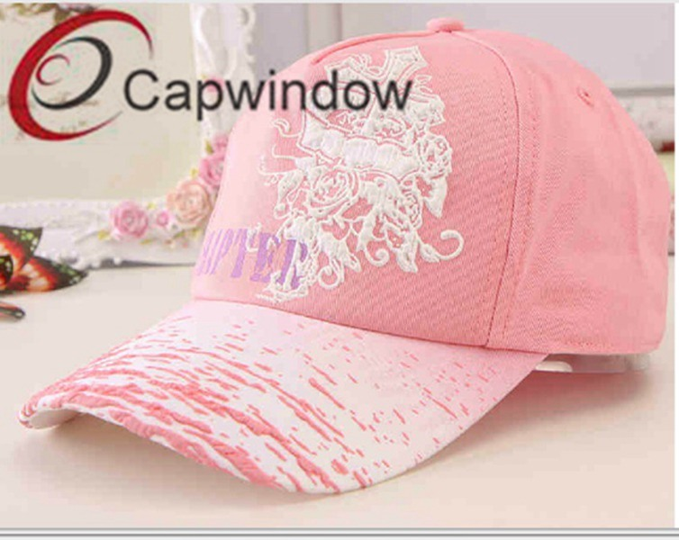 Pink Embroideryfashion Leisure Sport Lady′s Baseball Cap