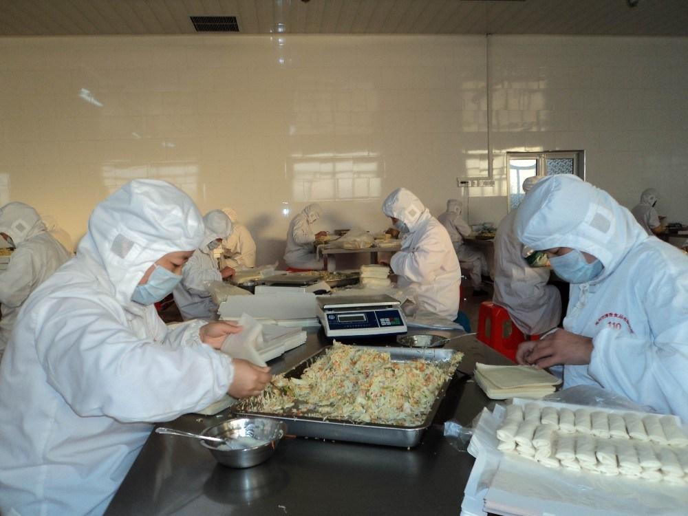 Chinese Dim Sum 100% Hand Made 40g/piece Vegetable Frozen Spring Rolls