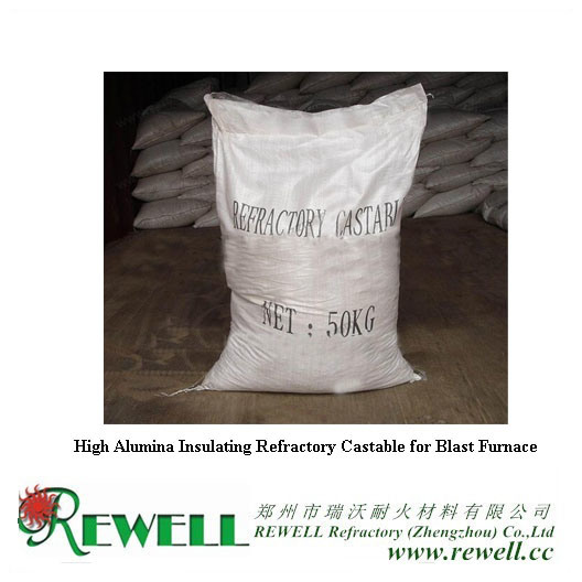 High Alumina Insulating Refractory Castable for Blast Furnace