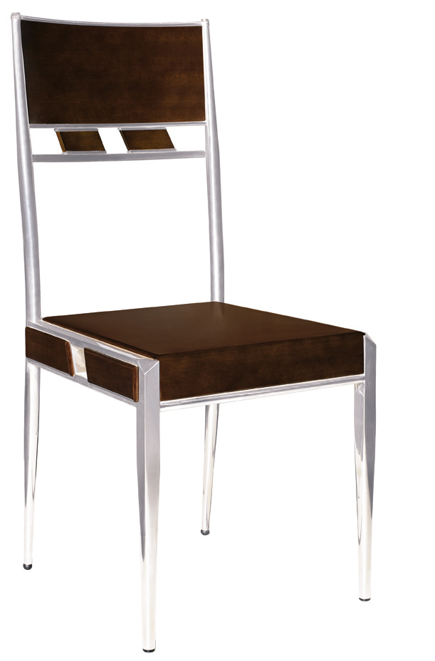 Wood and Stainless Steel Dining Chair CY 15 China
