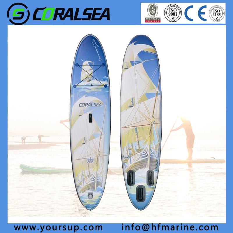 "PVC/PVC Material/EVA/EVA Material/PVC Drop Stitch Movement Surfboards with Quality (N. Flag10′6"")"