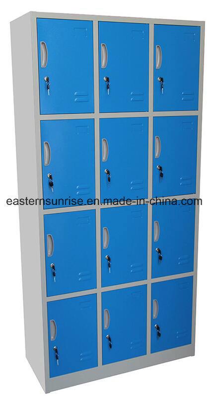 12 Door Compartments Steel Storage Locker