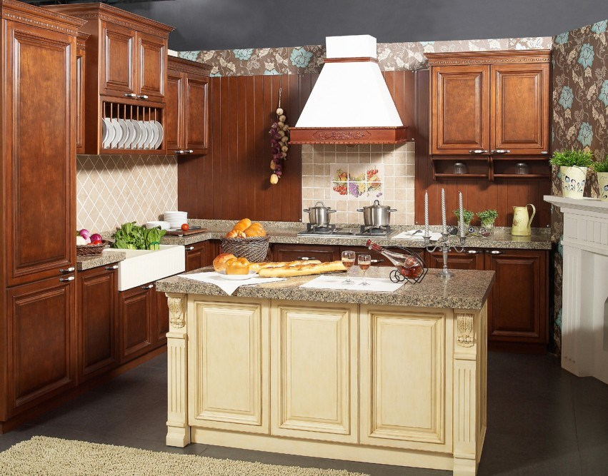 2017 Solid Wood Kitchen Cabinet and Modern Kitchen Furniture Yb-16007