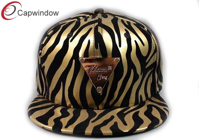 Gold Zebra Design Snapback Trucker Cap