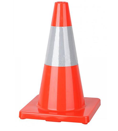 """Reflective Tape 18"""" Flexible Bright Orange PVC Traffic Cone (CC-A45)"""