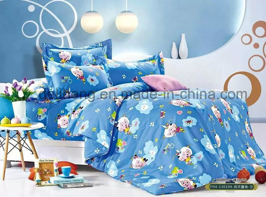 High Quality Soft Handfeeling Printed 100% Cotton Bed Sheet Fabric